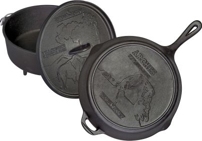 "CAMPCHEF Camp Chef 100 Year National Park Anniversary Set 12"" Dutch Oven und 12"" Pfanne mit Deckel"