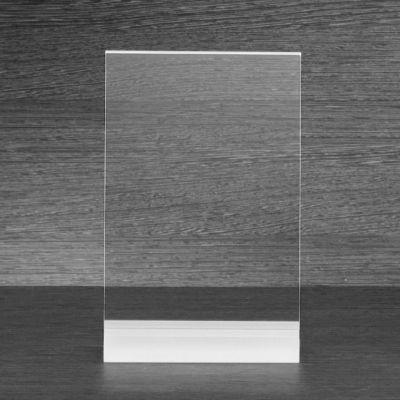 sigel TA322 Tischaufsteller frozenacrylic, gerade - glasklar, für A5