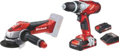 Einhell Werkzeugset TE-TK 18 Li Kit (CD+AG) 18V Akkuschrauber und Akku-Winkelschleifer Power X-Change