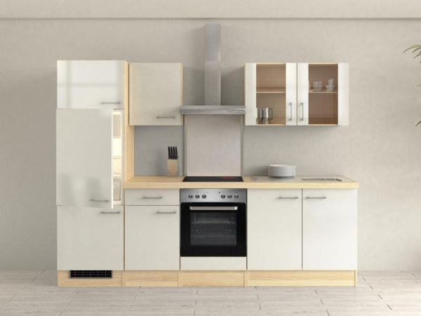 flex well k chenzeile 270 cm g 270 2207 003 k chenblock einbauk che k che. Black Bedroom Furniture Sets. Home Design Ideas