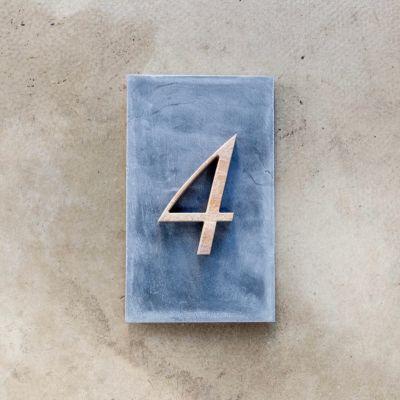 a plus design a+ design Sandstein-Hausnummer Musterbox, 1-stellig