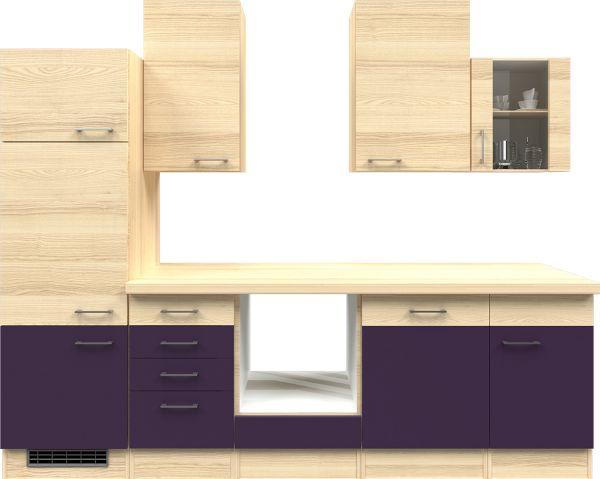 flex well k chenzeile ohne e ger te 280 cm l 280 2307 014 k chenleerzeile ebay. Black Bedroom Furniture Sets. Home Design Ideas