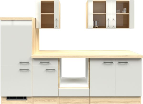 flex well k chenzeile ohne e ger te 270 cm l 270 2206 030 k chenleerzeile. Black Bedroom Furniture Sets. Home Design Ideas