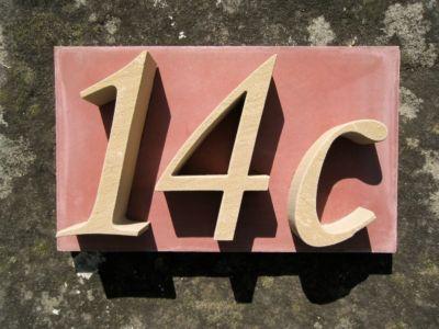 a plus design a+ design Sandstein-Hausnummer Musterbox, 3-stellig