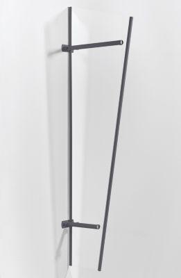 Gutta GUTTA Seitenblende »PT/GR Acryl«, BxH: 60x185 cm, anthrazit-transparent