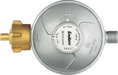 Gasdruckregler 50 mbar, Durchfluss 1,5 kg/h