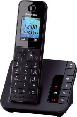 Panasonic KX-TGH220GB schwarz-matt mit AB