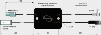 ABB Rundfunkverteiler passiv FM/AM ISO(m) und DAB+ SMB(f)