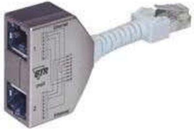 RJ45 Anschlussverdoppler (Telefon/Ethernet) 2 Stück