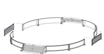 Exit  Fußball Ergänzungs-Set Panna-Field Extension Kit 153 cm
