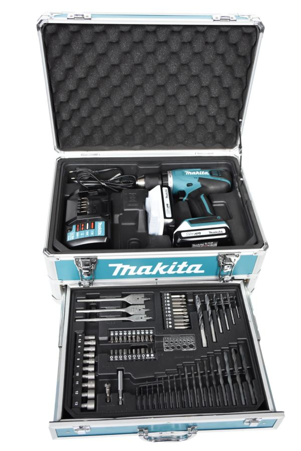 makita df457dwex3 18v akkuschrauber set mit 2 akkus transportkoffer ladeger t ebay. Black Bedroom Furniture Sets. Home Design Ideas