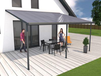 Gutta 4293168 Terrassenüberdachung anthrazit, 546 x 406 cm