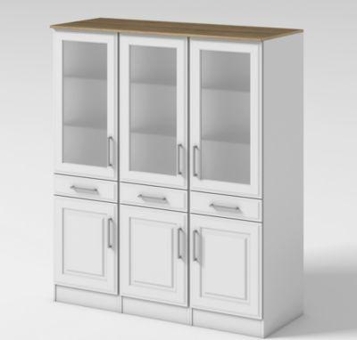 Moderne vitrinen in hochglanz preisvergleich die besten for Schreibtisch schwenkbare tischplatte