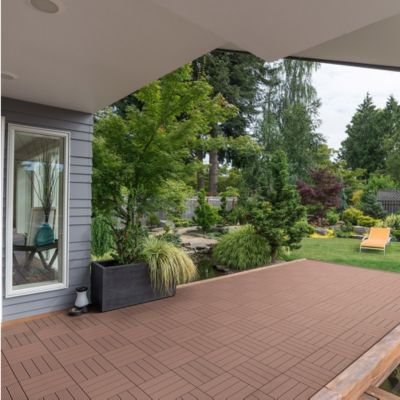 Home Deluxe  WPC Terrassenfliesen, 11 Stck., 30x30 cm, 1m², hellbraun