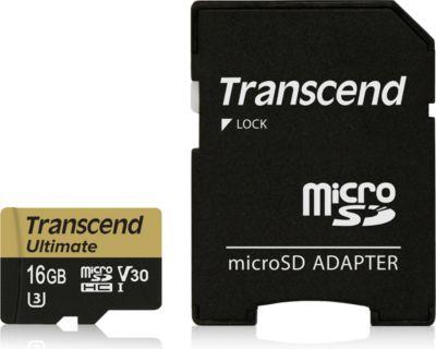 Transcend 16GB microSDXC/SDHC UHS-I U3M (Ultimate)+ SD-Adapter