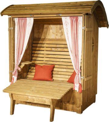Relax aus Fichtenholz inkl. Beinauflage, Klapptische & Fensterläden