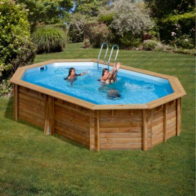 Gre  Canelle Echtholz-Pool Ø 551 x 351 x 119 cm
