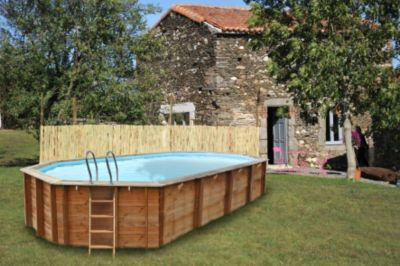 Gre Sevilla Echtholz-Pool Ø 872 x 472 x 146 cm