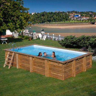 Gre  Evora Echtholz-Pool Ø 600 x 400 x 133 cm