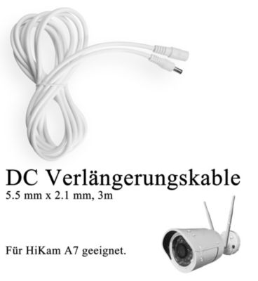HiKam + Verlängerungskabel für  A7 Überwachungskamera