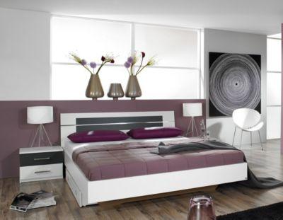 Futonbett 160 x 200 cm inkl. zwei Nachttische RAUCH PACKS Burano