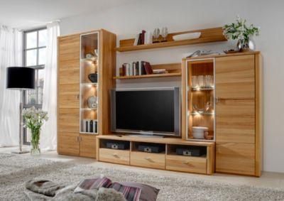 wohnwand kernbuche preisvergleich die besten angebote online kaufen. Black Bedroom Furniture Sets. Home Design Ideas