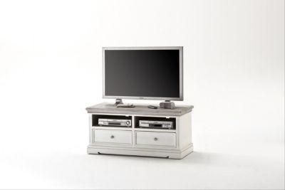 Lowboard Kiefer Weiss / White Sanded Massiv Mca-Furniture Pokus Landhaus