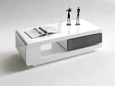 GroB Couchtisch Weiss / Grau Hochglanz MCA Furniture 59031