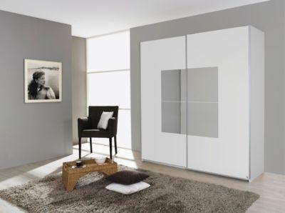 Schweber 2trg Alpinweiss/ Spiegel Rauch Packs Corridore Weiß Holz Modern