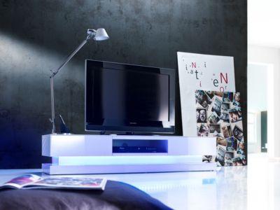 TV-Lowboard Hochglanz weiss