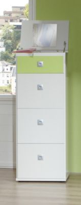 Kommode alpinweiss/ apfelgrün