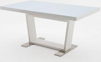 Esstisch 160 x 90 cm weiss hochglanz/ Edelstahl MCA-Furniture Manhattan