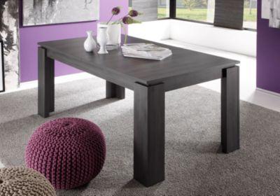 Esstisch 160 x 90 cm ausziehbar Esche grau Trendteam Universal