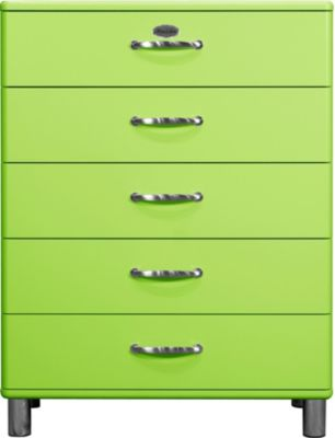 Kommode grün lackiert Tenzo Malibu