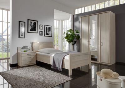 Schlafzimmer Mit Bett 90 X 200 Cm Edel Esche Nachbildung Wiemann Luxor 4