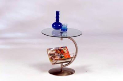 Beistelltisch metall preisvergleich die besten angebote for Beistelltisch glas mit zeitungsablage