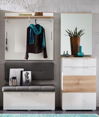 Garderobe weiss hochglanz/ Buche Innostyle Reno