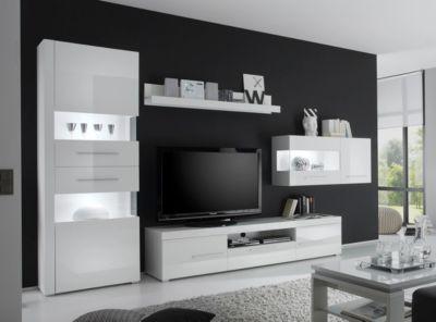 wohnwand weiss hochglanz preisvergleich die besten angebote online kaufen. Black Bedroom Furniture Sets. Home Design Ideas
