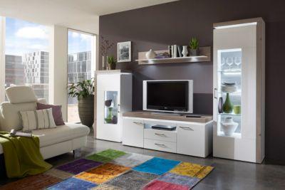 Designer wohnwand weiß hochglanz  Wohnwand Weiss Hochglanz Preisvergleich • Die besten Angebote online ...