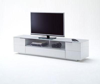 TV-Lowboard weiss Hochglanz lackiert