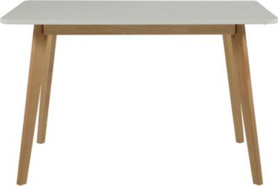 Esstisch 120 x 80 cm weiss/ Birke Actona Raven