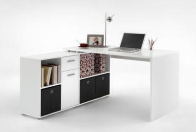 Schreibtisch mit Regal weiss FMD Exl