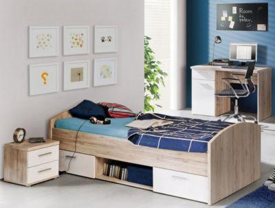 Jugendzimmer Set Mit Bett 90 X 200 Cm Sandeiche