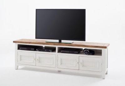 TV-Unterteil Recycle Kiefer weiss/ Vintage brau...