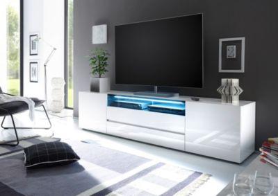 TV Lowboard weiss Hochglanz lackiert