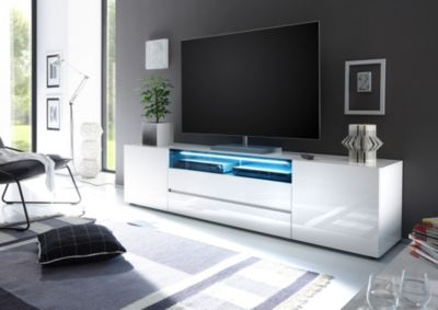 TV Lowboard weiss Hochglanz lackiert MCA-Furniture Vicenza