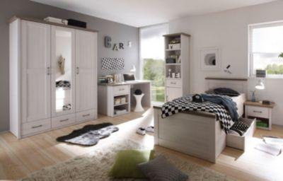 Jugendzimmer Mit Bett 90 X 200 Cm Pinie Weiss/ Trüffel PolPower Luca