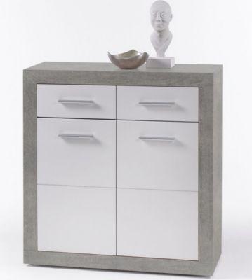 wohnwand weiss glanz preisvergleich die besten angebote. Black Bedroom Furniture Sets. Home Design Ideas