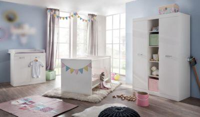 Babyzimmer mit Bett Weiss
