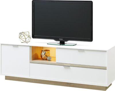 TV Lowboard weiss/ Eiche